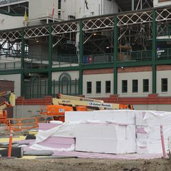 The west side of the ballpark, just north of the new west gate
