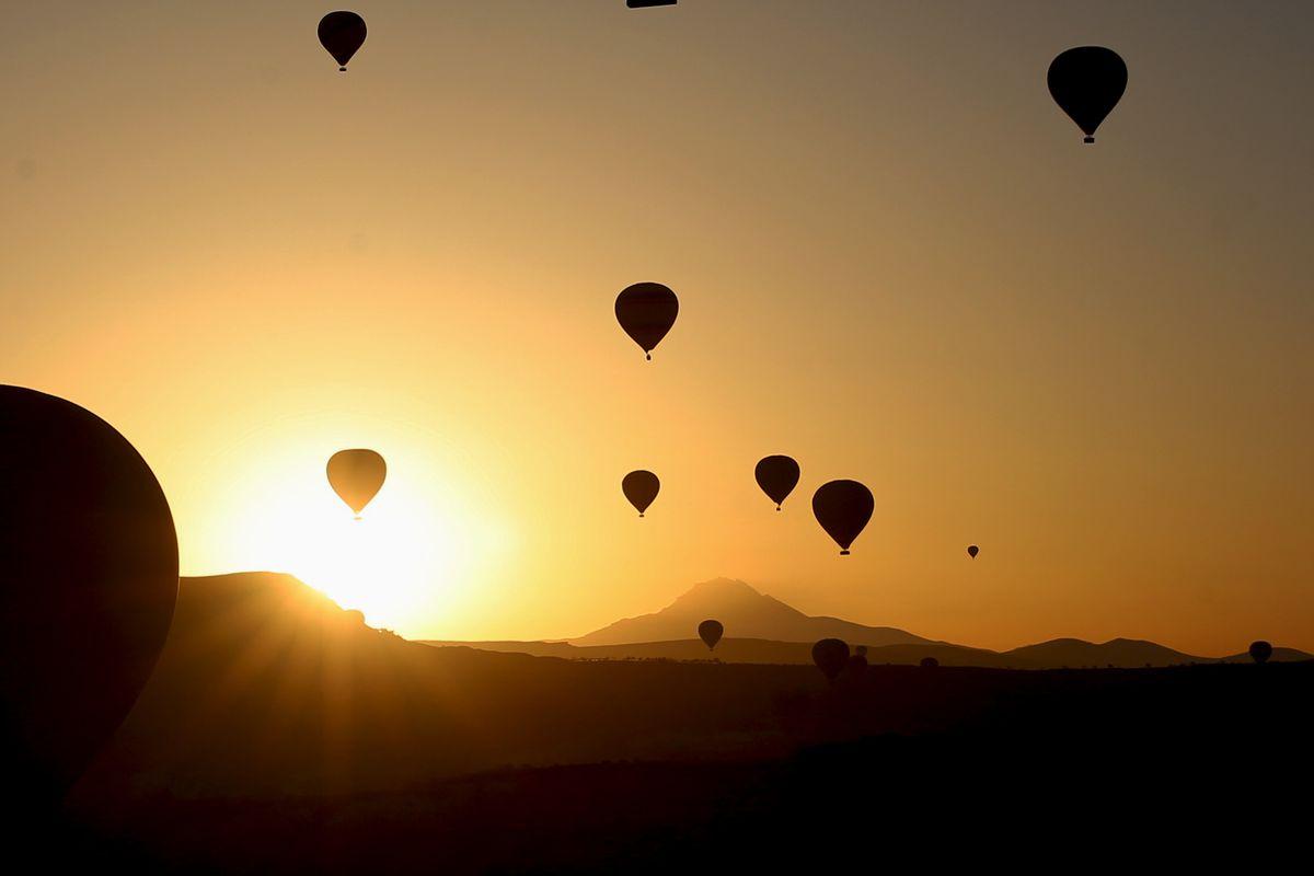 Hot-air balloons in Cappadocia