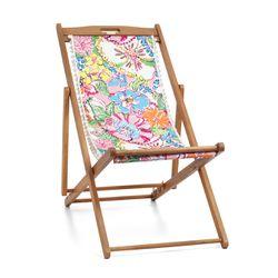 'Nosie Posey' teak beach chair, $60