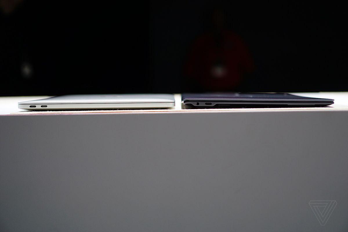 Galaxy Book S compared to a MacBook Pro