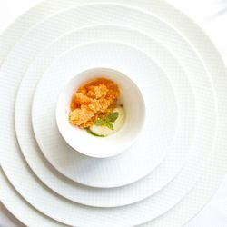 """Sweet Carrot Granité from Per Se by <a href=""""http://www.flickr.com/photos/gourmetgourmand/8667075666/in/pool-eater"""">gourmetgourmand</a>"""