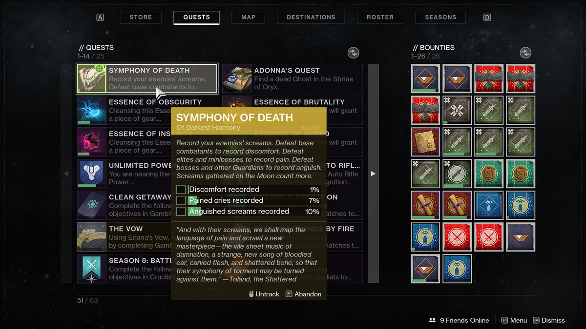 Deathbringer Exotic quest