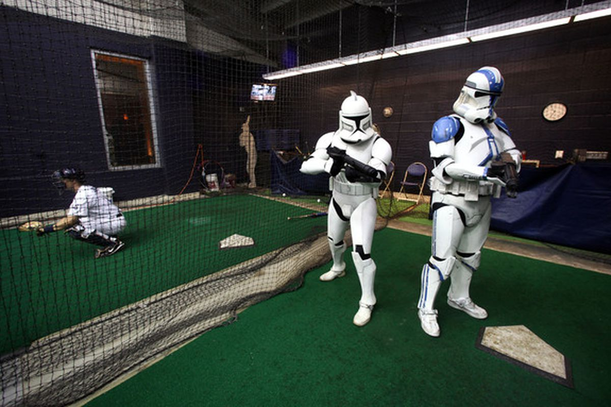 """""""These aren't the droids you're looking for..."""" (Photo by Donald Miralle/Getty Images)"""