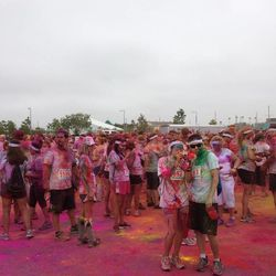 The party after The Color Run 5K.