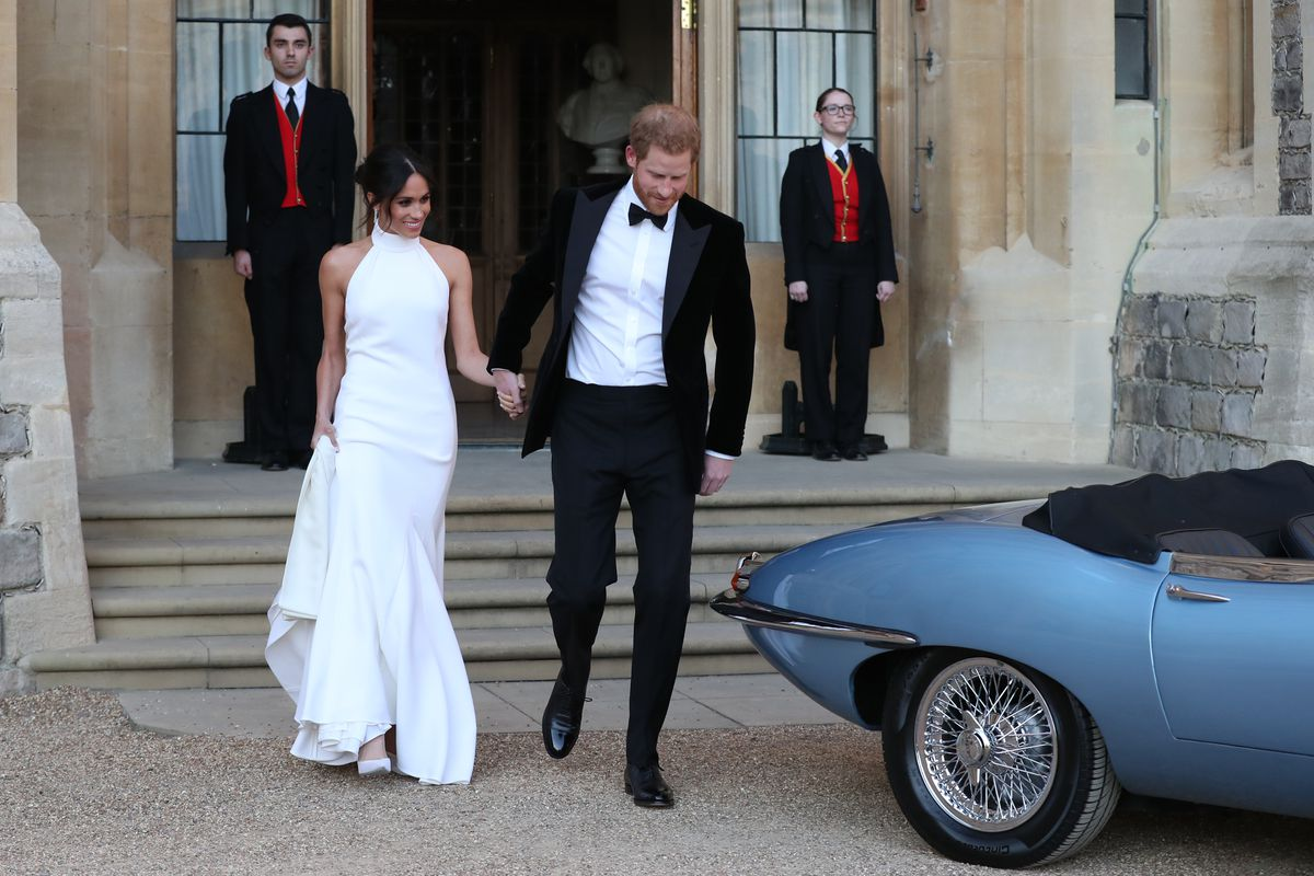 Meghan Markle Wore Stella Mccartney To The Royal Weddings Evening