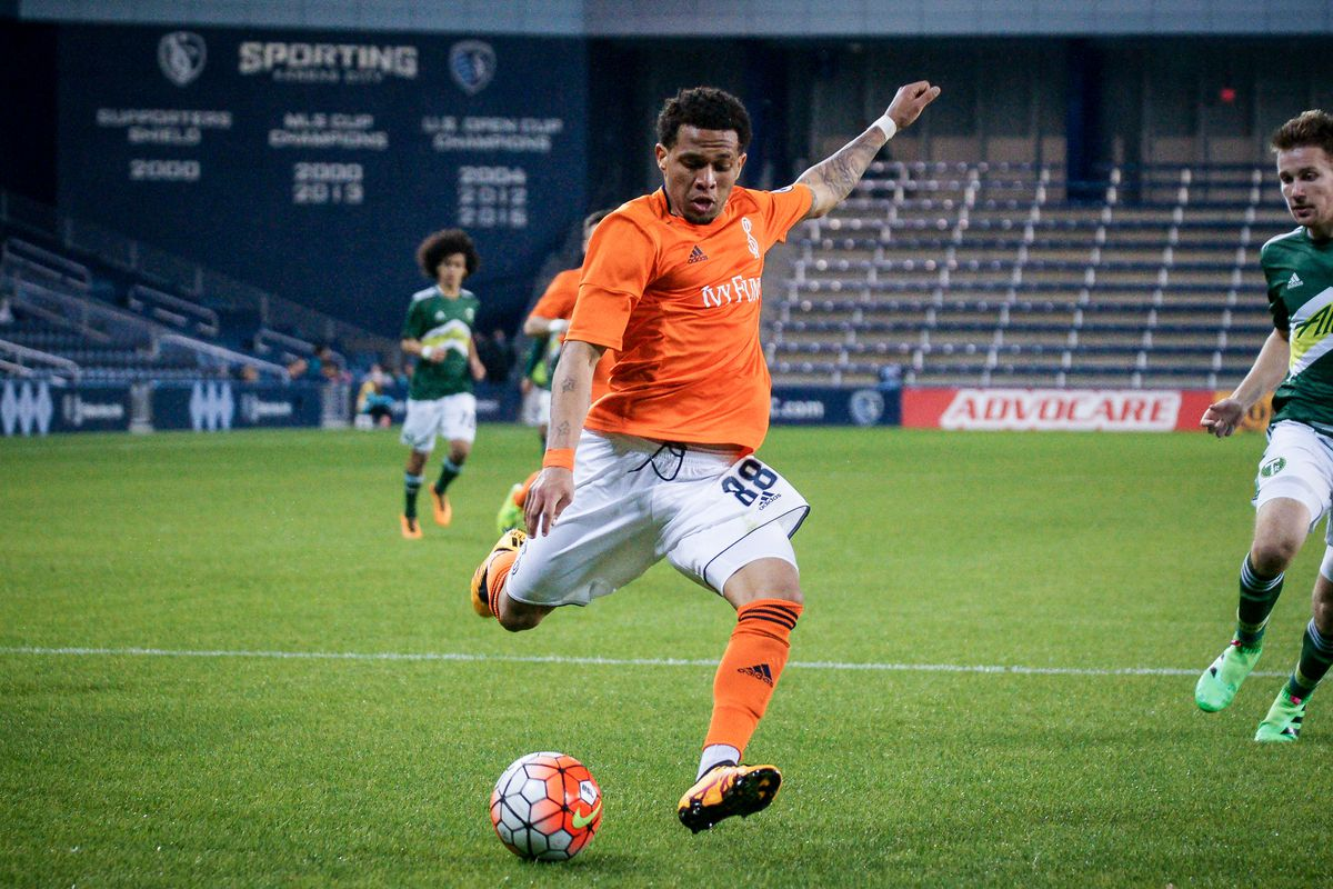 Kevin Oliveira scored the first goal for Swope Park