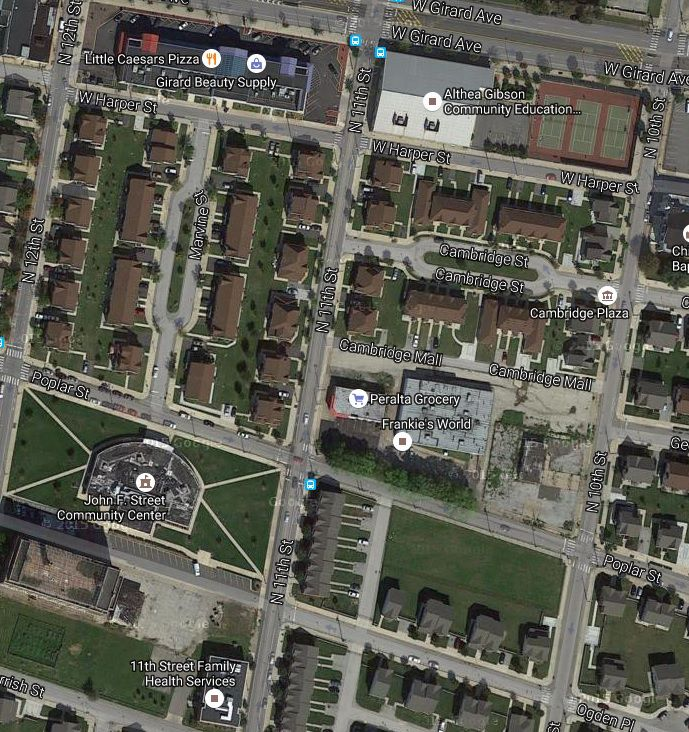 Approximate Area Of N Philly Location Bottom Left 12th Parrish Google Maps