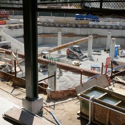 2:49 p.m. Another view into the plaza from the new entranceway being constructed -