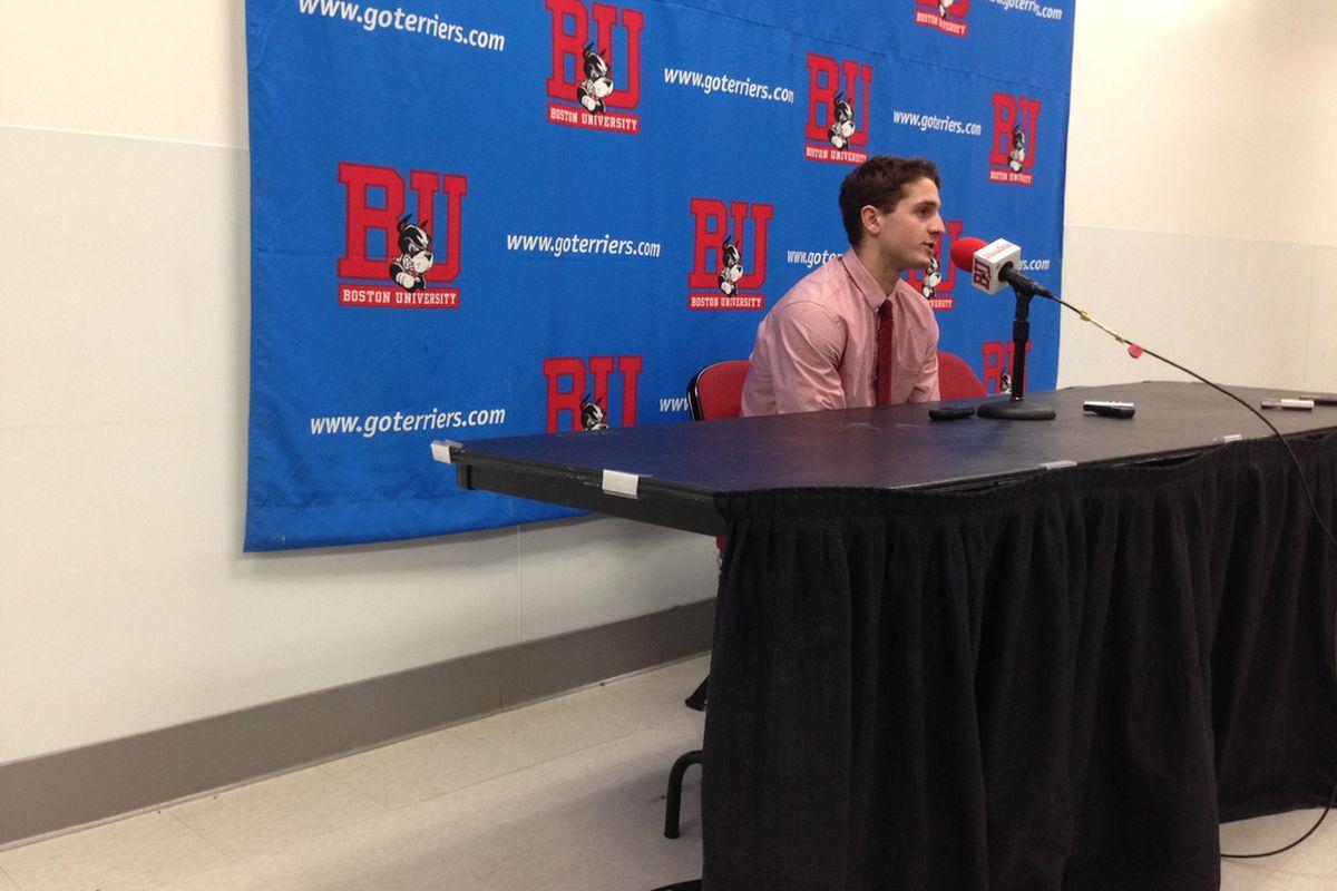 BU freshman Nick Roberto had a goal in Saturday's 3-3 tie with North Dakota.