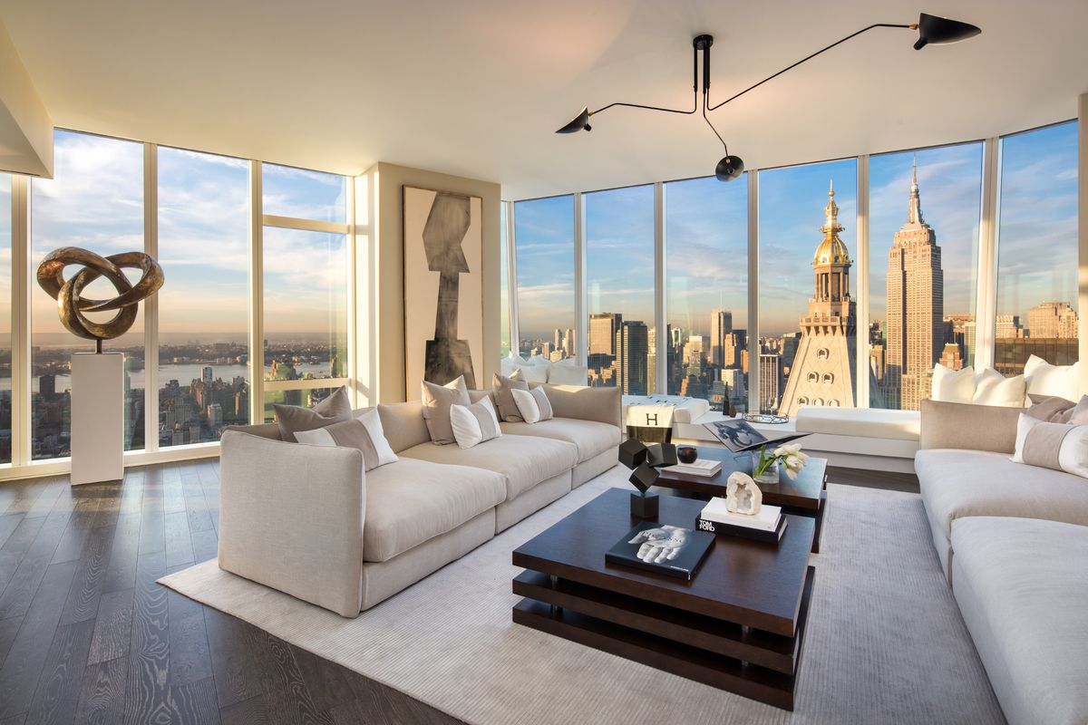 flatiron s tallest tower reveals its stunning 55th floor model apartment curbed ny. Black Bedroom Furniture Sets. Home Design Ideas