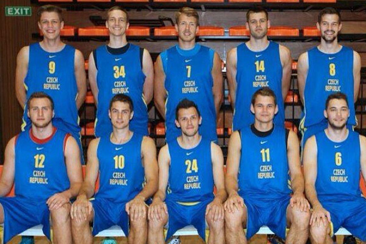 Patrik Auda with the Czech 'B' team.