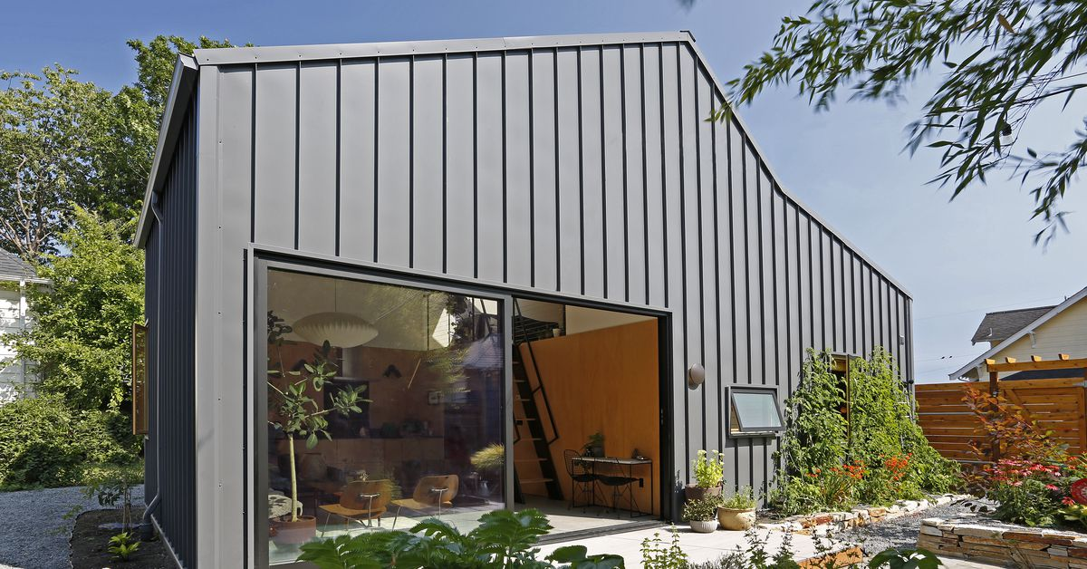 A modern backyard home designed for aging in place