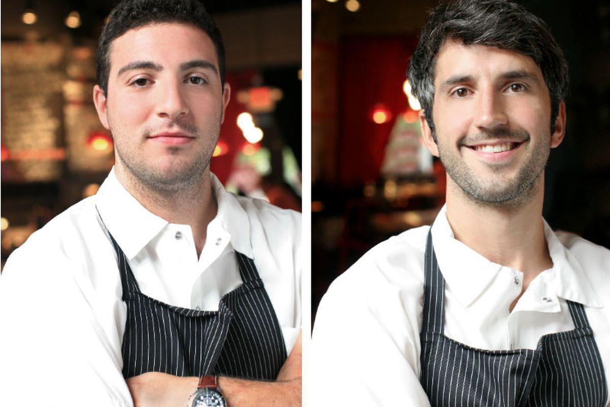 Michael Lombardi (left) & Kevin O'Donnell, co-owners/co-executive chefs of SVR