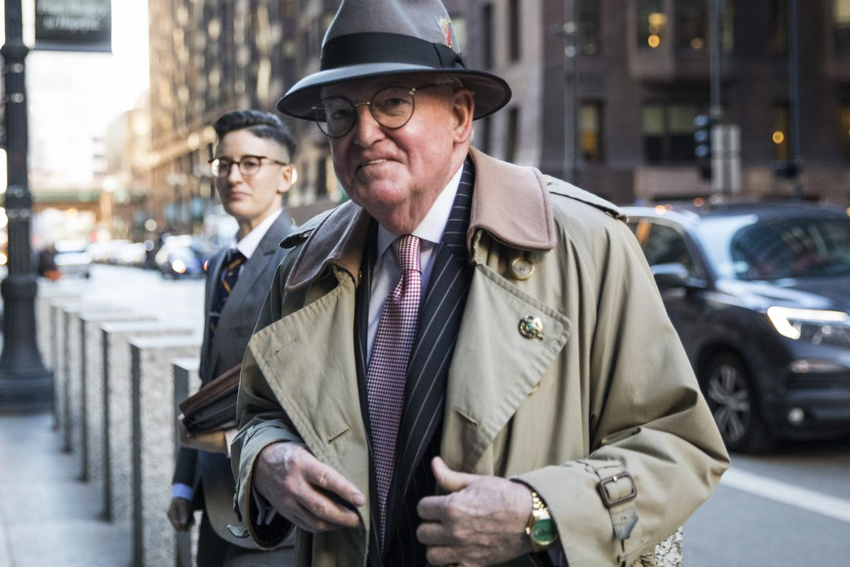 Ald. Edward M. Burke (14th) enters the Dirksen Federal Courthouse on Jan. 3, 2019, after being charged.