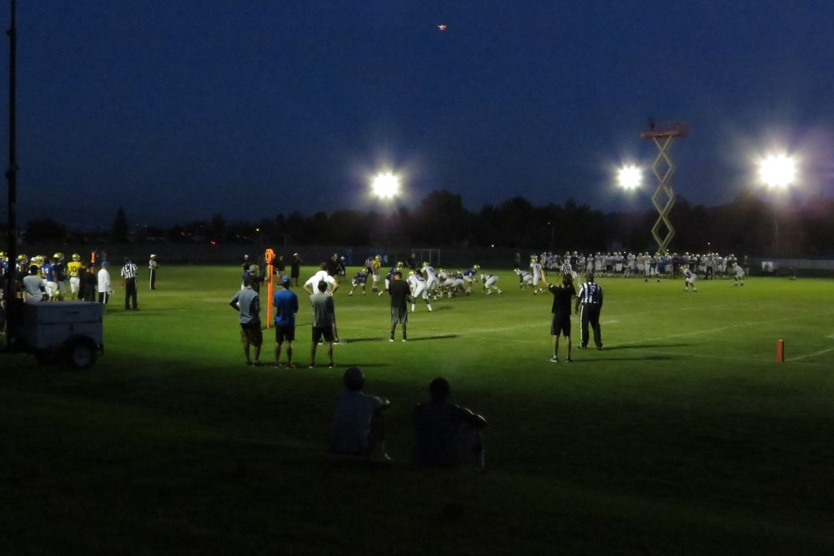 """It was """"Saturday Night Lights"""" when the start of practice was moved to 6:30pm due to the heat."""