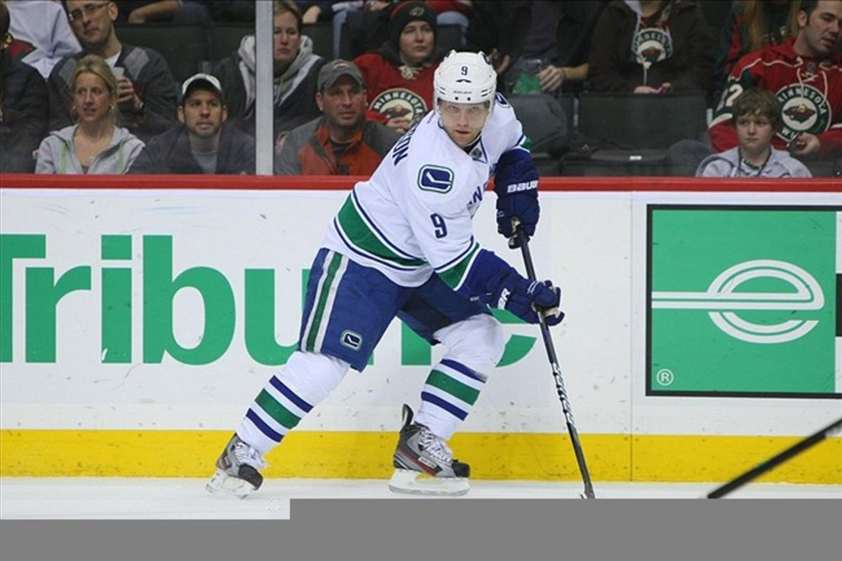 If Cody Hodgson doesn't get at least a double hat trick tonight, I'll be very disappointed.