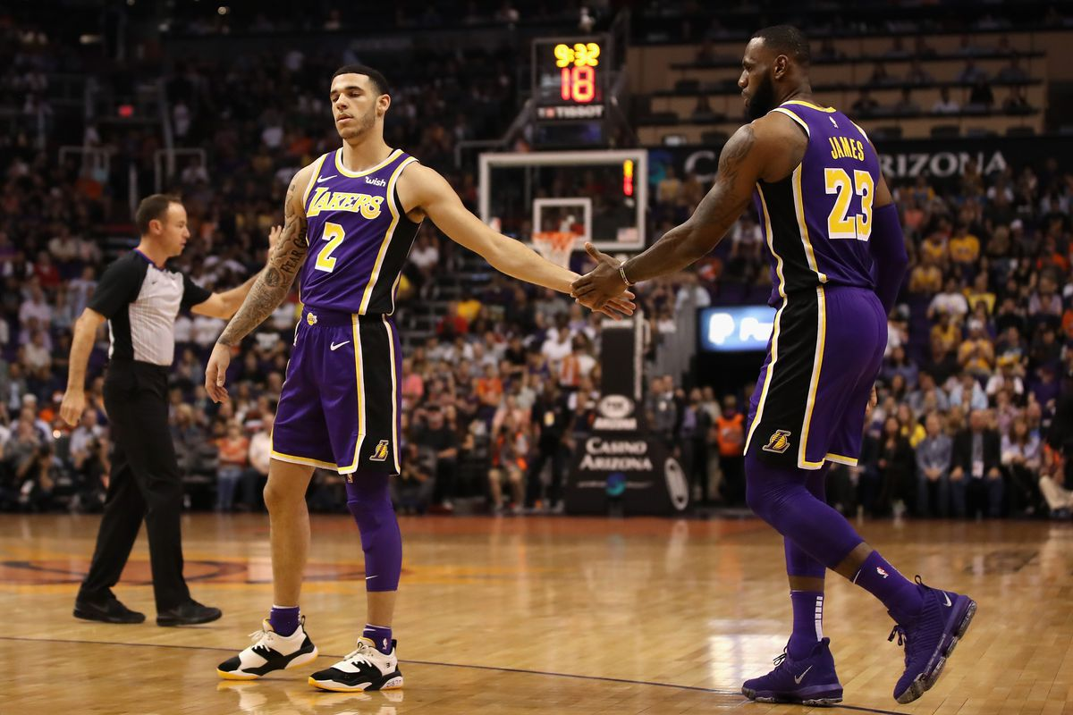 huge discount 3f714 221b6 LeBron James, Lonzo Ball accept blame for late Lakers ...