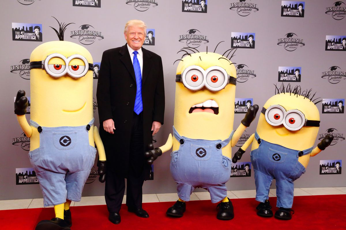 Trump and his support team.