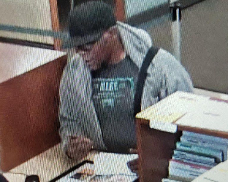 Surveillance image of the suspect in an attempted bank robbery June 17, 2019, at the Marquette Bank at 5700 W. 159th St.in Oak Forest.
