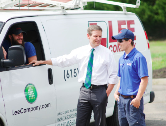 Bill Lee is president of Franklin-based Lee Co., a $250 million home services business with more than 1,200 employees. (Photo by Bill Lee for Governor)