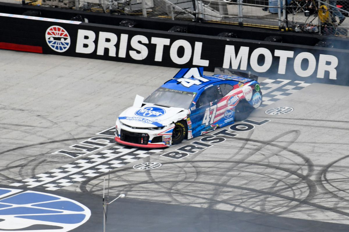 Monster Energy NASCAR Cup Series driver Ryan Preece crashes during the NASCAR Monster Energy Food City 500 at Bristol Motor Speedway.