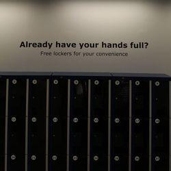 It even has lockers!