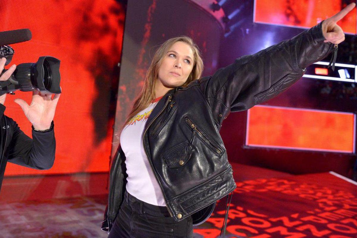 Ronda Rousey at 'Royal Rumble'