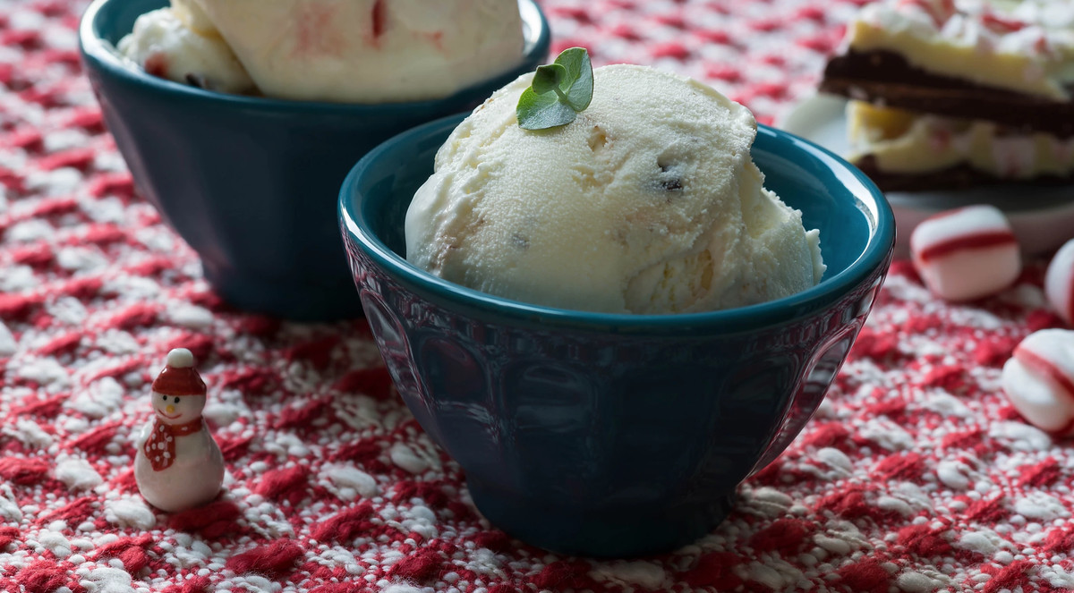 Peppermint bark ice cream at Sugar Mama Ice Cream