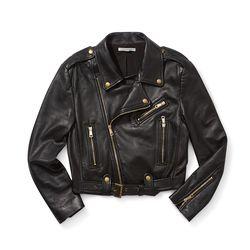 Harpur moto jacket in black, $305 (originally $598)