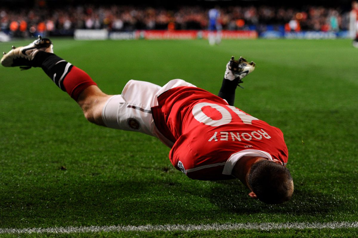 Wayne Rooney: Striker, winger, or central playmaker? (Photo by Mike Hewitt/Getty Images)