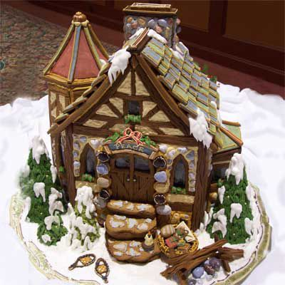 Small gingerbread house cottage.