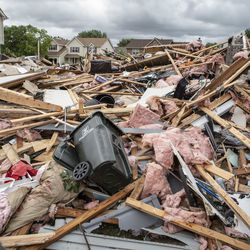 A completely demolished home on Princeton Circle in Naperville's Ranchview neighborhood Monday, June 21, 2021.