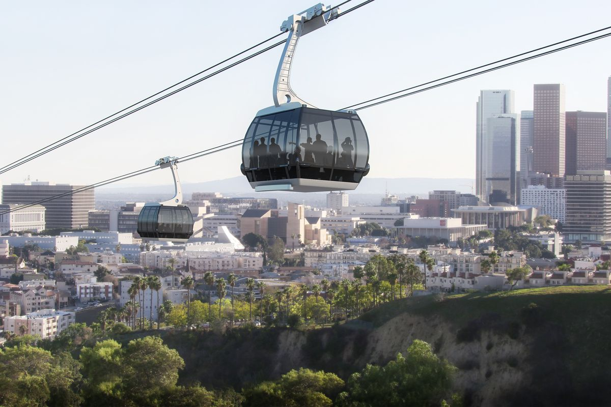 aerial tram proposed for dodger stadium curbed la. Black Bedroom Furniture Sets. Home Design Ideas