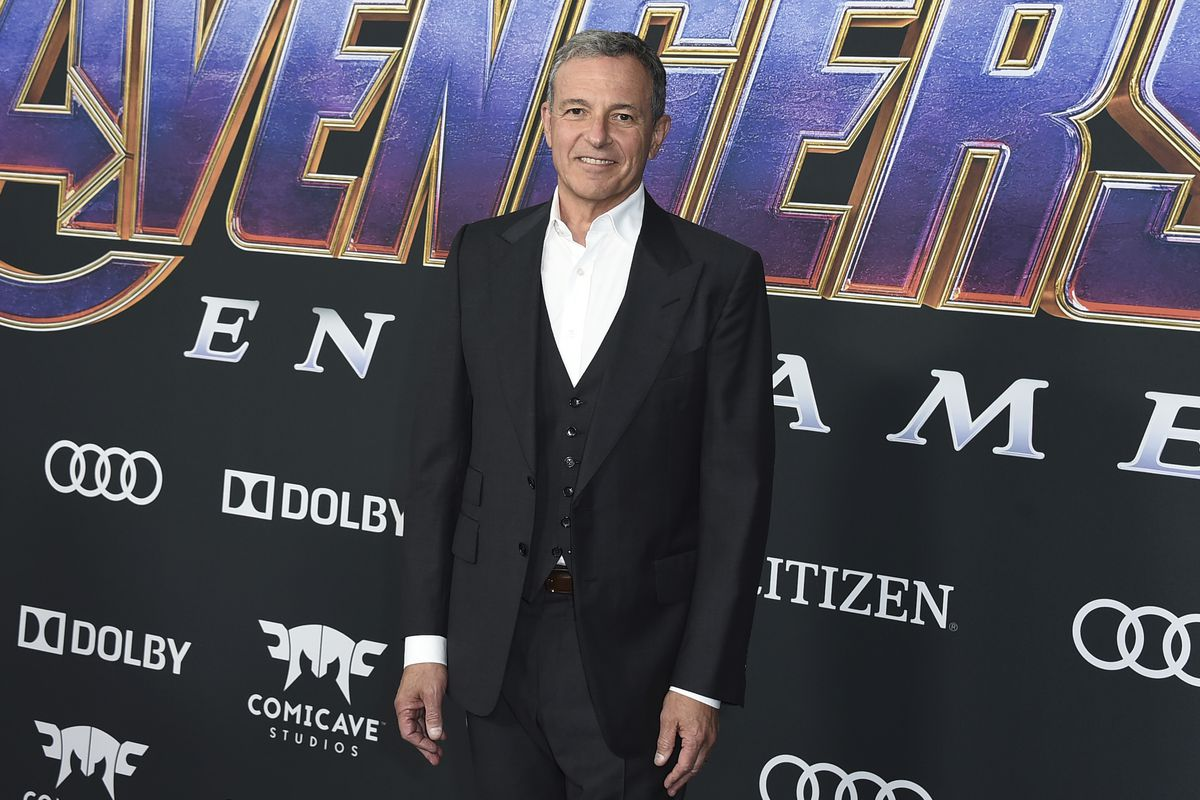 """Disney CEO Bob Iger arrives at the premiere of """"Avengers: Endgame"""" at the Los Angeles Convention Center on Monday, April 22, 2019."""