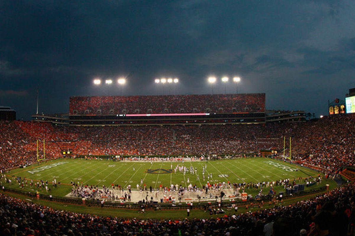 The gorgeous Jordan Hare Stadium in Auburn, AL