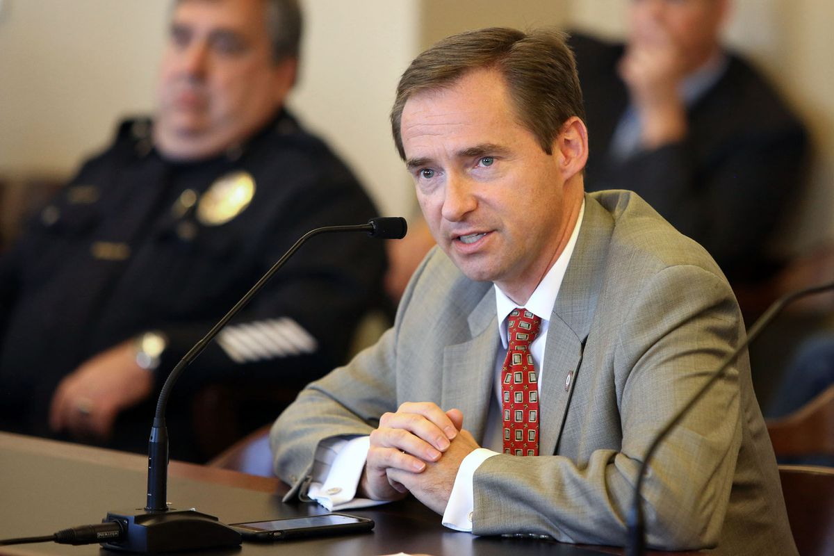 FILE - Rep. Steve Eliason, R-Sandy, talks at the Capitol in Salt Lake City on Wednesday, Sept. 21, 2016. Crimes victims and their families who believe investigations are languishing may seek a review of the status all the way to the attorney general's off