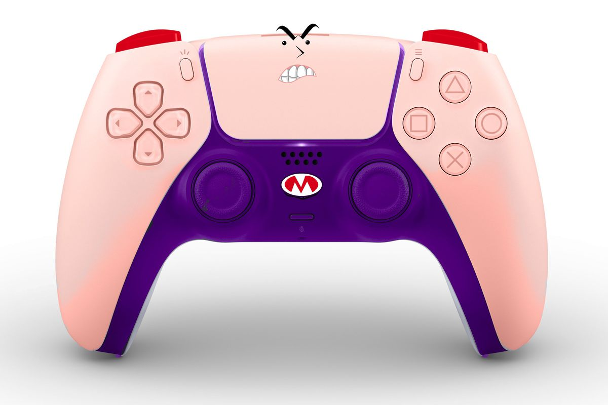image showing the DualSense controller looking like the character Strong Mad from Homestar Runner