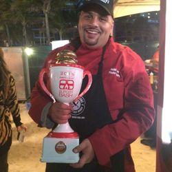 Burger Bash Winner Nedal Ahmad from Pincho Factory