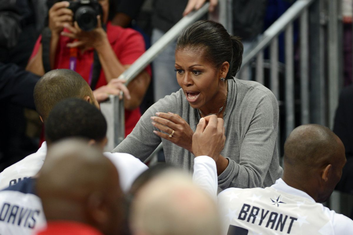 DON'T LET THE FIRST LADY DOWN GUYS. Mandatory Credit: Bob Donnan-USA TODAY Sports