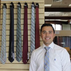 Noel Lopez launched his necktie company, The Town and Co., in November 2015.