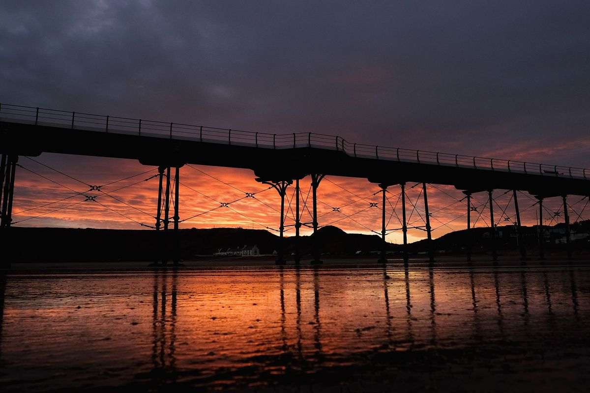 Winter Sunrise Over Saltburn-by-the-Sea