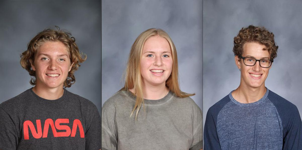 From left, Jake Gerenraich, Sophie Ljung and Charlie Nevin.   Provided photos