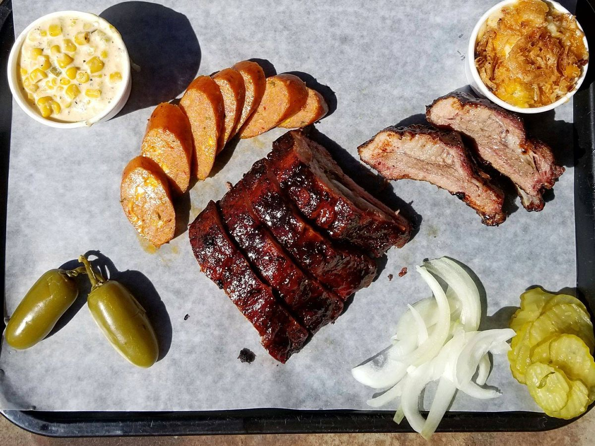 A barbecue tray from Opie's