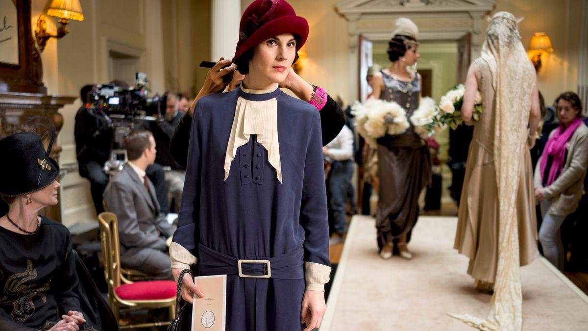 Michelle Dockery as Lady Mary Crawley on Downton Abbey.