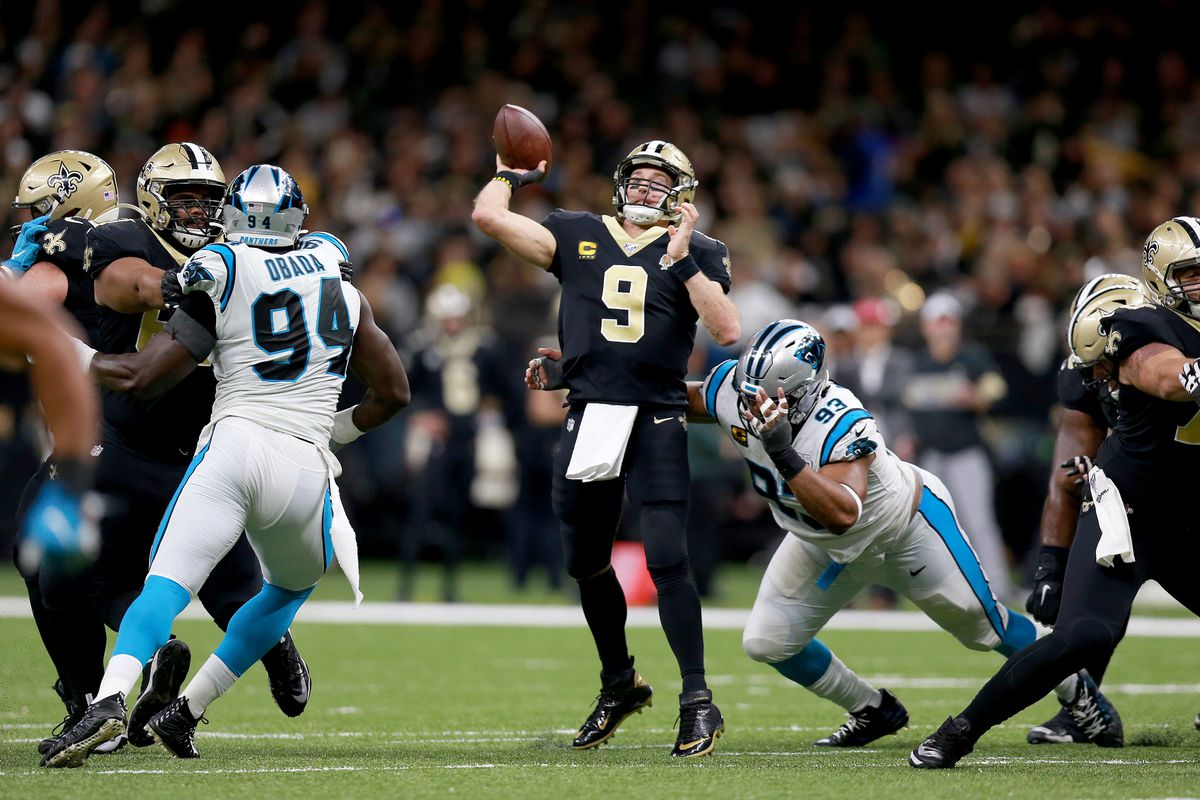 saints vs panthers betting line