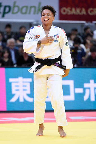 Amandine Buchard is a favorite in the under-52kg judo competition.