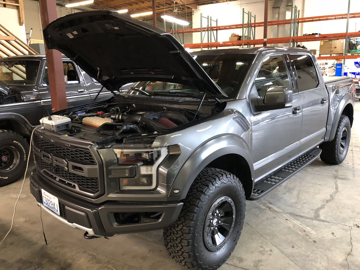 A Ford Raptor, running on pure hydrogen.