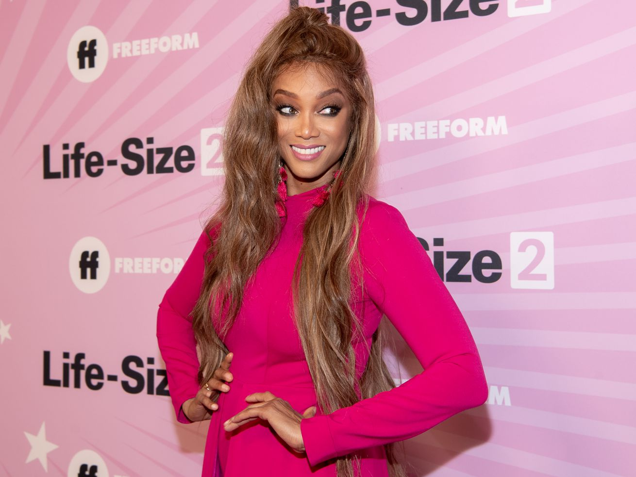Tyra Banks at a recent premiere in Hollywood