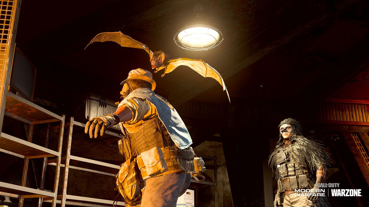 A vampire bat attacks a player in a screenshot from Call of Duty: Modern Warfare/Warzone