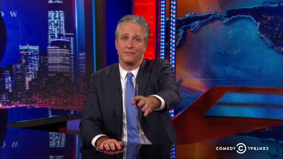 Jon Stewart warns viewers about bullshit.